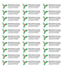 Free Christmas Mailing Labels Template Mailing Address Label