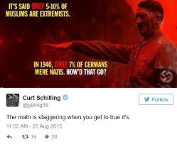 Legendary Pitcher Curt Schilling Tweets About Muslims – Is ... via Relatably.com
