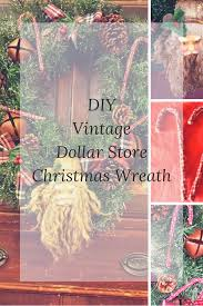 DIY Vintage Dollar Store Christmas Wreath - Farm Girl Reformed