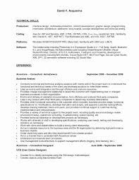 Asp Net Sample Resume Asp Net Sample Resume Best Of Technical Proficiency Resume Examples 32