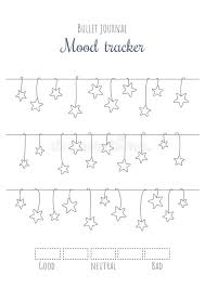 Printable Mood Tracker With Hanging Stars Bullet Journal