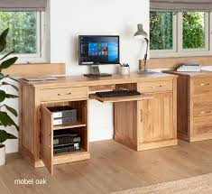 baumhaus hidden home office 2. Baumhaus Hidden Home Office 2. Mobel Oak Large Twin Pedestal Desk 2 U