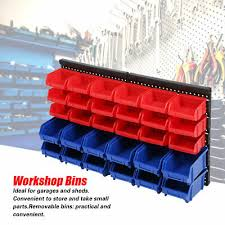 30pc plastic bins wall mount storage