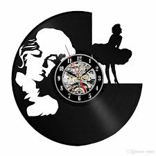 monroe personality vinyl vinyl disc wall clock modern home decoration creative handmade gift living room decorative wall art large decorative clocks for