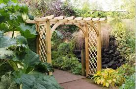 8ft x 4ft wooden garden arch timber