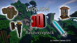3d texture packs wolion 3d resource pack 1 8 x 64px 128px standalone