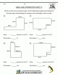 Area And Perimeter Worksheets Rectangles Squares Maths Of ...