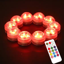 Battery Operated Red Led Lights 20pcs Lot Mini Waterproof Submersible Led Small Battery