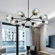 glass ball branching bubble pendant chandeliers for dining room living room modern chandelier lighting re led avize e27 lamp malaysia senarai harga