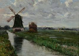 windmill holland benjamin chambers brown 1908 oil on canvas 10