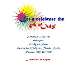 4th of july party invitations wording 6