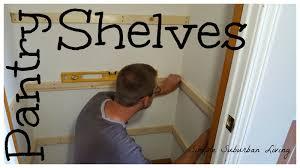 simple pantry shelving
