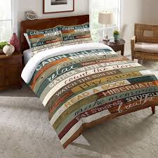 cabin bedspread laural home rules of the cabin comforter free today