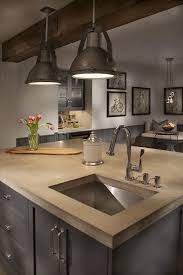 modern industrial lighting. absolutely love this counter top a modern industrial kitchen more lighting