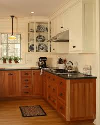 Wonderful Painting Cherry Kitchen Cabinets White Anyone Have 2 Colored Throughout Design Inspiration