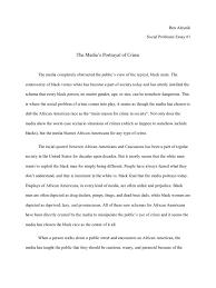 social problems essay