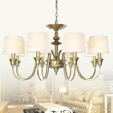 brass chandeliers with shades amazing chandelier glass shades