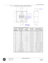 Mcm Cable Size Chart Junction Box And Power Cable Sizing Chart Ge Industrial