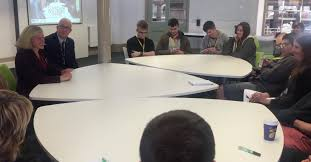 students at the round table discussion held at the buxton campus asked ruth questions such as why the government had cut funding the impact on colleges in