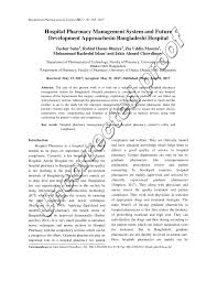 Pdf Hospital Pharmacy Management System And Future
