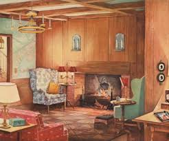 lighting in homes. This Early American Room From 1935 Hits All The Romantic Revival Lighting Bases: Hoop Chandelier In Homes