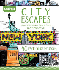 90's nickelodeon cartoons crayola art with edge coloring pages book new sealed. Amazon Com Crayola City Escapes Coloring Pages Gift For Teens Adult Coloring Enthusiasts 40pgs Toys Games