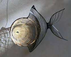 metal fish wall art wire art stainless