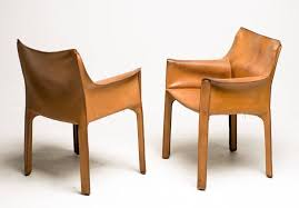 saddle leather chair b by cristian valdes chairish source cab chairs designed by mario bellini for cassina italy in the desirable and rare natural saddle