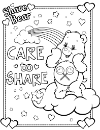 Small Picture Care Bears Coloring Pages Best Coloring Page