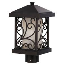 progress lighting cypress collection light forged bronze post