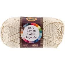 Lion Brand Yarn 761 098 24 7 Cotton Yarn Ecru