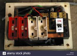 blown fuse stock photos & blown fuse stock images alamy Circuit Breaker Box old style wire fuse box with no fuses installed stock image