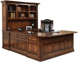 new haven old world u shaped desk countryside amish furniture regarding modern house u shaped desks designs