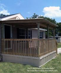 mobile home porch with gable roof by