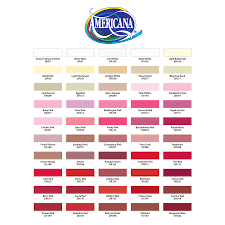 Decoart Americana Color Chart Best Picture Of Chart