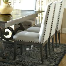 uncategorized leather dining chairs with nail heads appealing nailhead trim dining chair with leather bmorebiostatcom image