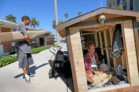 tiny houses for the homeless. Modren The The Tiny Houses That Came To San Pedro In An Effort Address The Homeless  Population There Were Moved Off Street On Wednesday To Tiny Houses For Homeless N