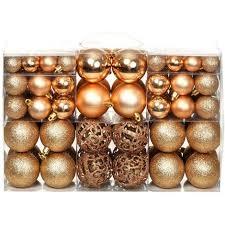 100 Tlg Weihnachtskugel Set 6 Cm Roségold