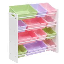 Amazon.com: Honey-Can-Do SRT-01603 Kids Toy Organizer and Storage Bins,  White/Pastel: Kitchen & Dining