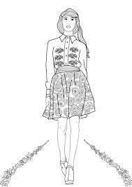 Small Picture Fashion Show Coloring Pages for Adults Adult coloring Houston
