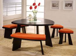 triangle counter height dining table round dining table with white chairs dark brown wooden dining set