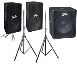 speakers with subwoofer. peavey pv full range pa speakers with subwoofer o