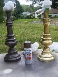 spray paint lamps big dollu0027s boomtown painting brass lamps a32
