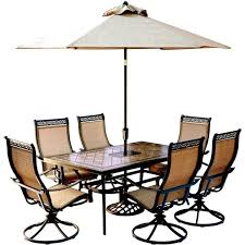 contoured sling swivel chairs umbrella
