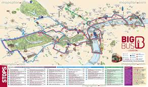 download london city map with attractions major tourist