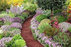 english garden flowers. English Garden Photograph Path By Mike Flowers