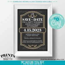 Cheers And Beers Retirement Party Save The Date Beer Themed
