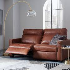 dark brown leather recliner chair. henry leather power recliner sofa 77 west elm for reclining decorations 4 dark brown chair