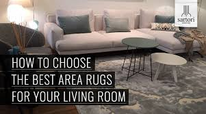 how to choose the best area rugs for the living room