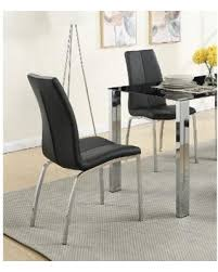 Morelle Faux-leather Dining Chair with Silvertone Metal Base (Set of 4) ( Amazing Deal on